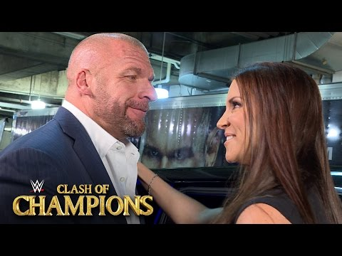 Stephanie McMahon leaves WWE Clash of Champions with husband Triple H: Sept. 25, 2016 thumbnail