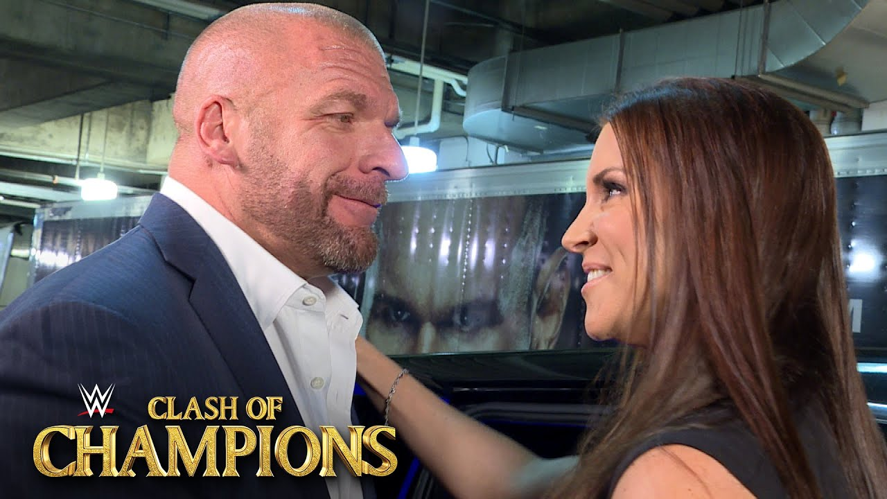 Stephanie McMahon leaves WWE Clash of Champions with husband Triple H Sept. 25, 2016