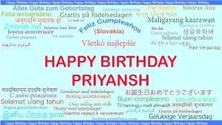 Priyansh   Languages Idiomas - Happy Birthday