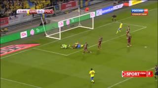 Швеция - Россия 1:1. ЧЕ-2016 квалификация. Забитые мячи + пенальти HD.