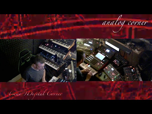 Live semi modular  jam on  analog and digital system with Sander Klepper