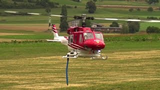 SPECIALLY RC FIREFIGHTING BELL 212 HELICOPTER WATER DUMPING DEMO