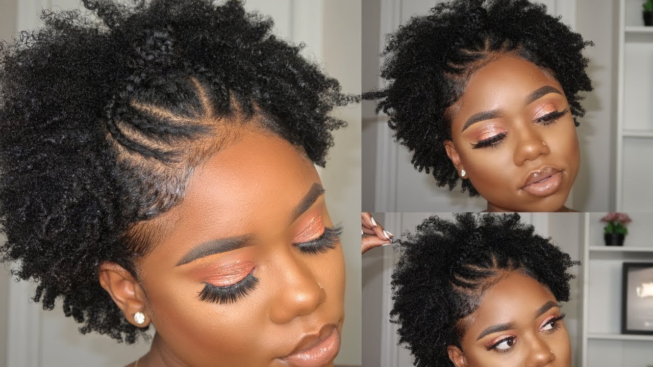 Trendy Hairstyle For Short Natural Hair Stretched Finger Coil On 4c B Natural Hair Youtube
