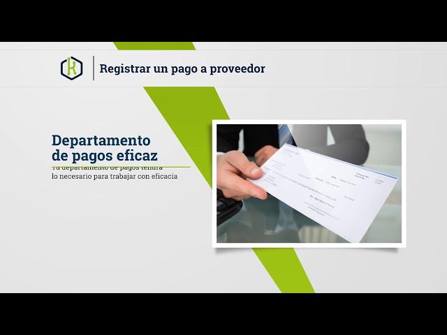 Como registrar un pago a proveedor - Kordata.mx