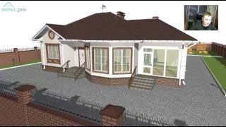 видео Проект компактного одноэтажного дома с мансардой и большой верандой B-056-ТП
