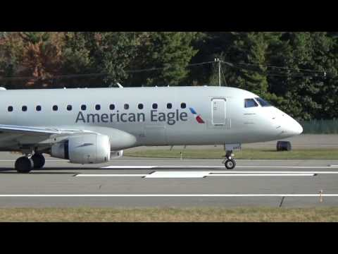 American Airlines, American Eagle, Embraer 175, Closeup Takeoff (MHT)