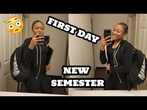 College Vlog: FIRST DAY OF SCHOOL SPRING 2018 (Morgan state University)