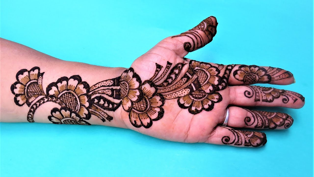 Stylish Simple Floral Henna Mehndi Designs For Hands By Jyoti