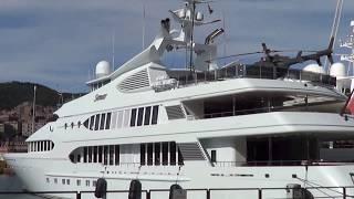 Mega yacht SAMAR with helicopter - Genoa marina