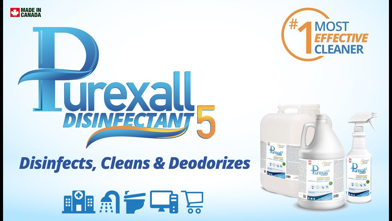 PUREXALL 5, Quat Base Disinfectant, Safe with no Residue for Foggers and Sprayers.