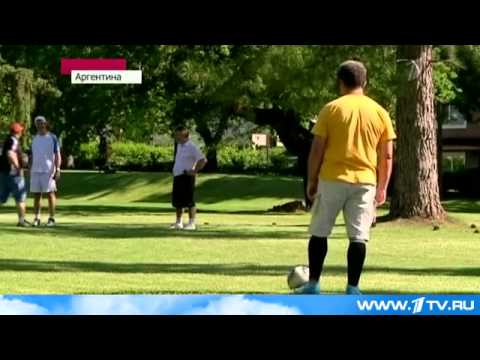 Видео: футгольф
