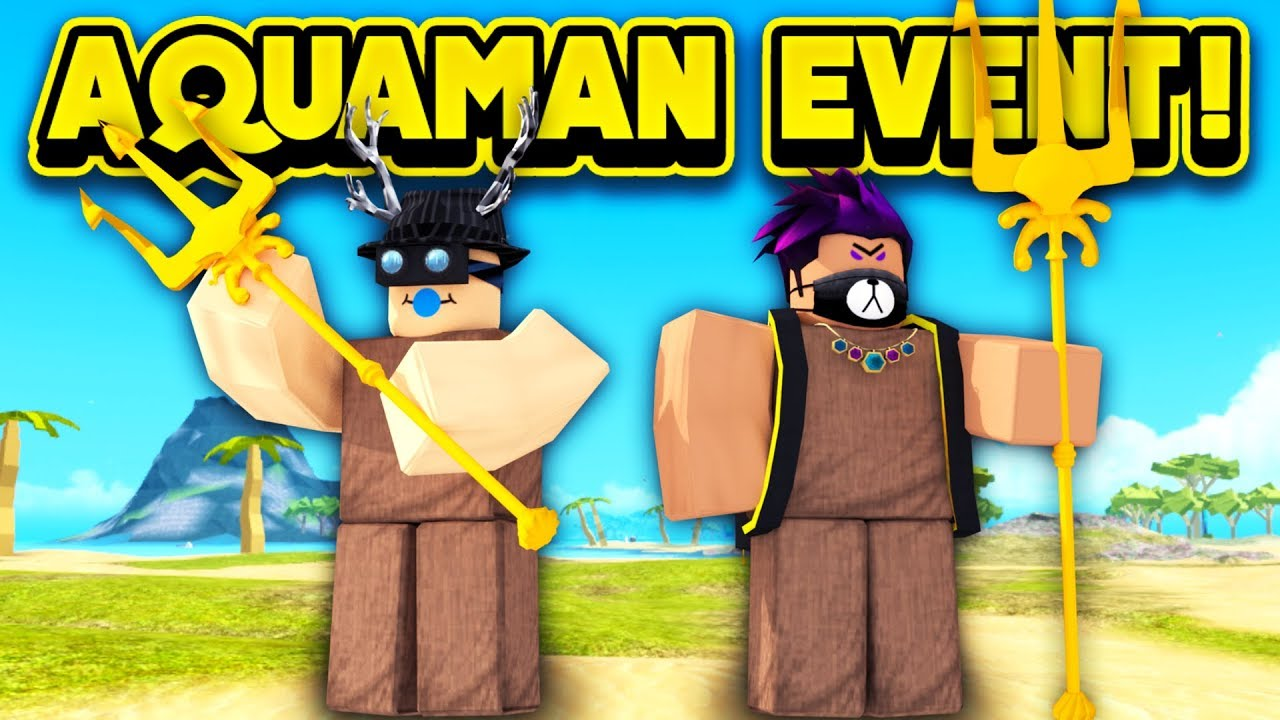 New Aquaman Event In Booga Booga Roblox Booga Booga Youtube