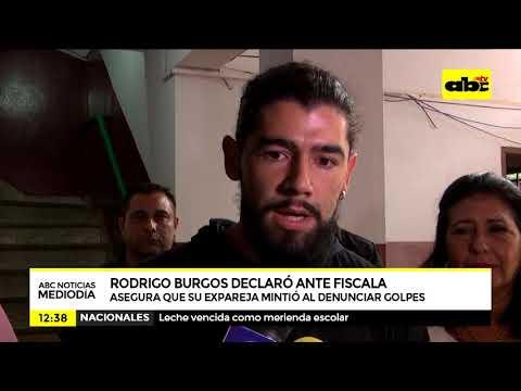 Rodrigo Burgos se presento prestar declaración
