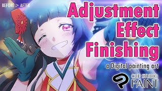 [How To]Adjustment Finishing A Digital Painting In CLIP STUDIO PAINT