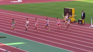 2018東海学生陸上女子100m準決勝 水野瑛 検索動画 18