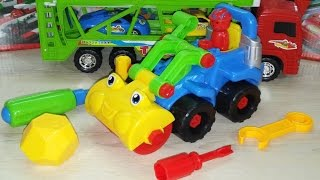 VIDEO FOR CHILDREN. TOY GRADER. Designer . Kids Construction Vehicles. ИГРУШКА Асфальтоукладчик.(, 2015-02-27T09:55:56.000Z)