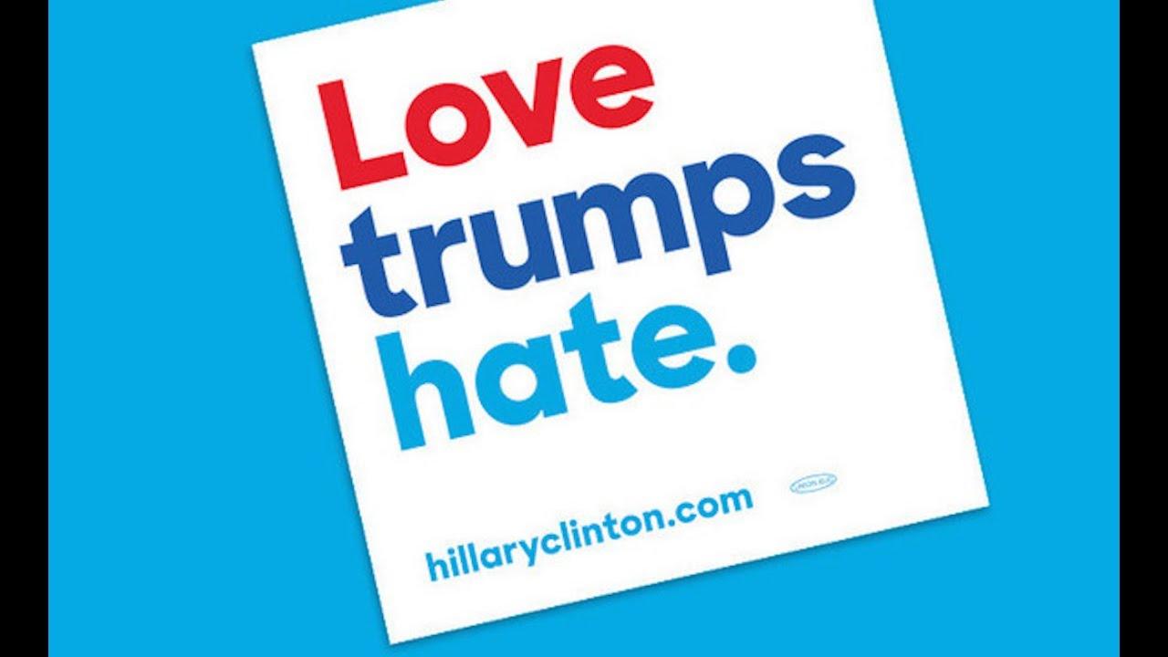 hillary clinton s lovely anti trump slogan youtube