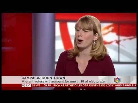 BBC News Channel - Migrant voters could help swing the election result