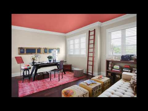 Home office wall color design ideas