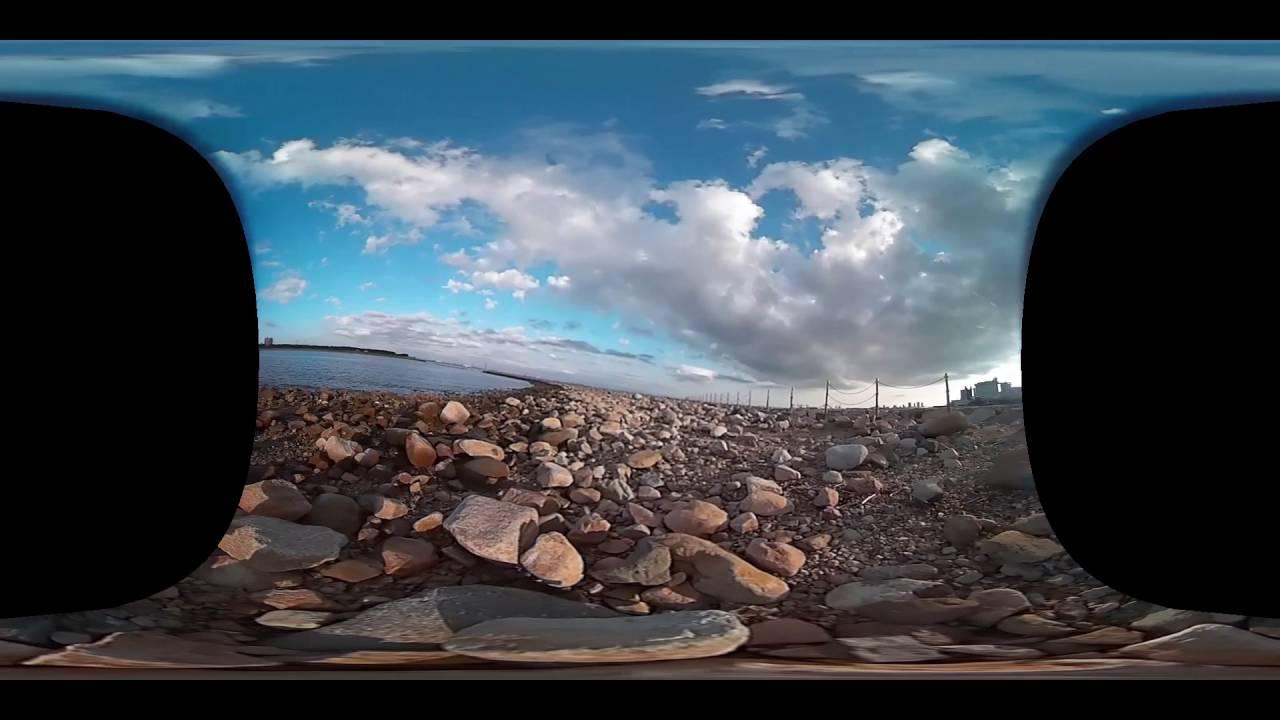 海岸お散歩VR(360度動画)