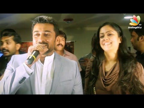 Surya and Jyothika Speech at 24 Movie USA Premier Show | Interview