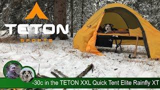 -30c Winter Camp iฑ the TETON XXL Quick Tent Elite Rainfly XT