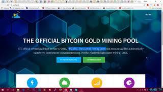 Получение адреса Bitcoin Gold, MINING, проверка баланса,настройка майнеров (Осталось меньше 4 часов)