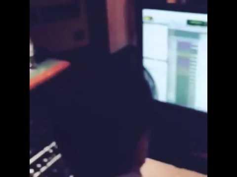 Zayn Malik in the studio for