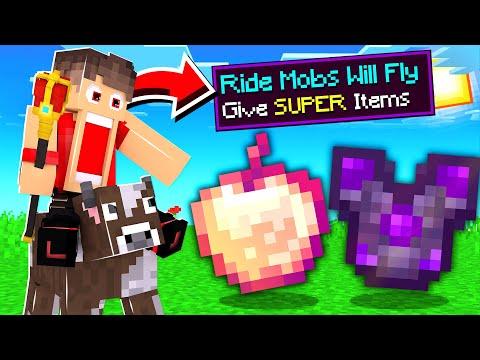 ماين كرافت ركوب الوحوش الطائره يعطوني اغراض اسطورية !🔥 - Ride Mobs Is OP