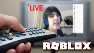 BEING ON LIVE TV IN ROBLOX