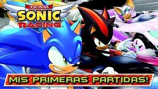 DIVERSIÓN POR EQUIPOS! MIS PRIMERAS PARTIDAS en TEAM SONIC RACING (PS4) Gameplay en español