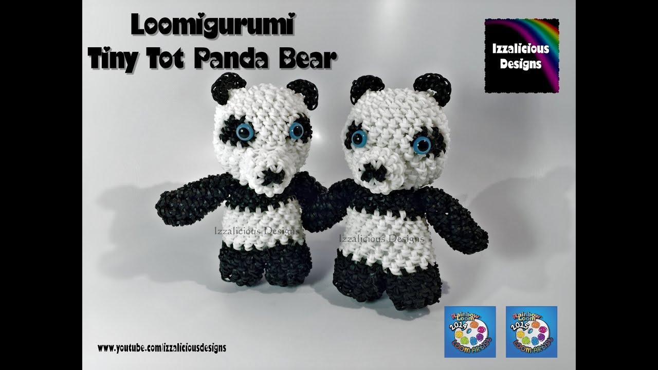 Rainbow Loom Loomigurumi Tiny Tot Panda Bear Made W