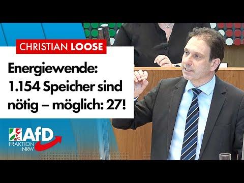 Energiewende: NRW kann nur 0,01 % der nötigen Stromspeicher bauen! – Redner (AfD)