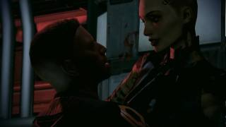 Mass Effect 2 pc game, commander Sheppard and Jack sex scene