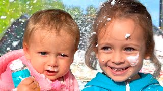 교육으로 동요와 아기의 노래를 Car Wash Song Mainan dan lagu anak-anak