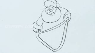 How to Draw Present Giving Santa