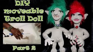 How to Make a Fabric Doll - Troll Doll DIY - Soft Sculpture Fingers Tutorial Part 2
