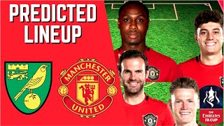 Predicted Lineup   Norwich City Vs Manchester United   Fa Cup 2019/20!