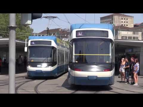 Tram - Straßenbahnen in Zürich City - Blockbuster Sunday