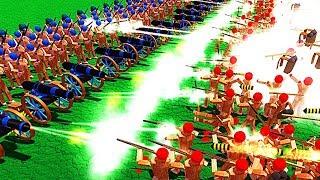 【小熙解说】木偶人战争模拟器 新兵种火箭炮兵! 开炮时会把自己也发射出去!wooden battles