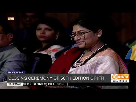 IFFI Director Chaitanya Prasad delivers vote of thanks in 50th International Film festival of India