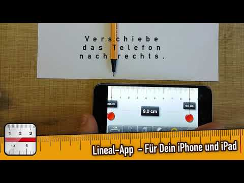 Lineal App für iOS Tutorial - Wie misst man lange Objekte richtig
