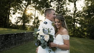 Emotional Bride Letter Reading | Elegant Military Wedding in PA