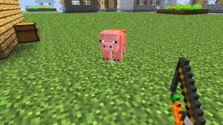 Minecraft - How to ride a pig and control it