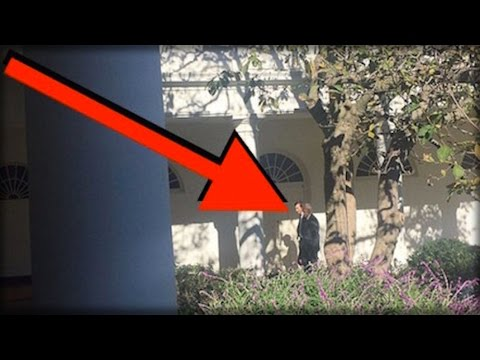 WHILE TRUMP WAS IN WHITE HOUSE TODAY, EVERYONE NOTICED WHO WAS SNEAKING OUTSIDE