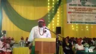 Senator Bassey Albert's address at Mboho Mkparawa Ibibio awards event
