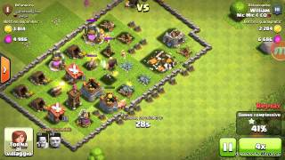 Clash of clans:strategia di attacco municipio lv 4