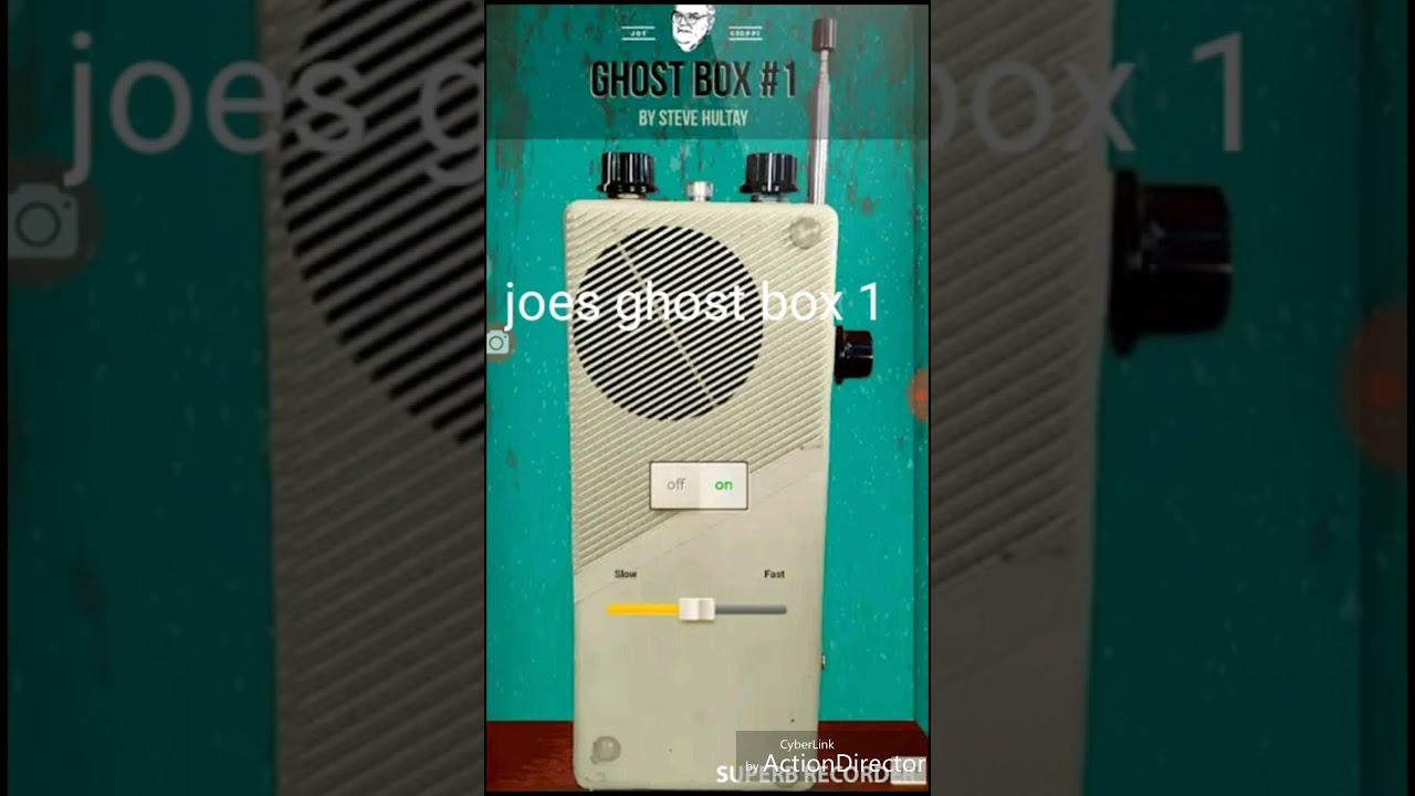Proving ghost box apps work (joes ghost box 1)