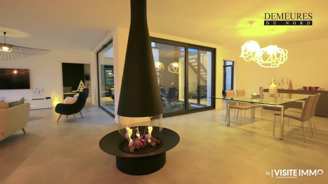 cadre de vie dans une maison contemporaine demeures du nord youtube. Black Bedroom Furniture Sets. Home Design Ideas