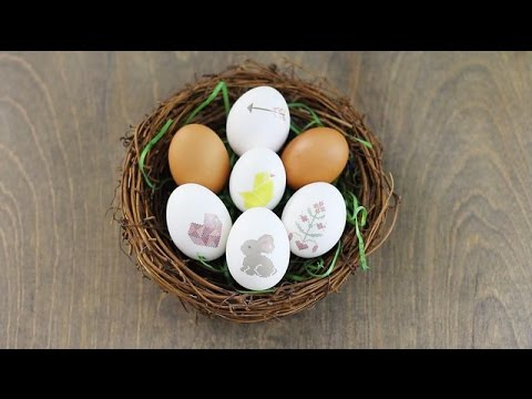 Ink Your Eggs! DIY Temporary Tattoo Easter Eggs